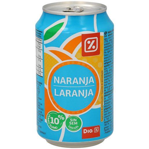 DIA bebida de zumo de naranja lata 33 cl