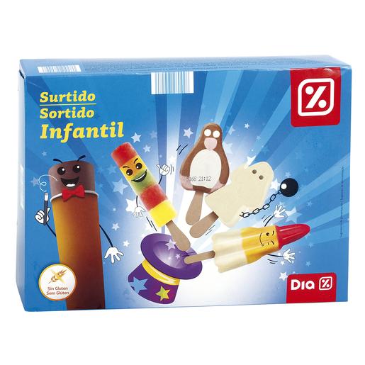 DIA surtido infantil de helados caja 10 uds 490 gr