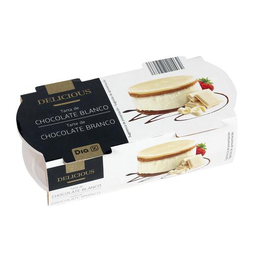 DIA DELICIOUS tarta de chocolate blanco pack 2 unidades 70 gr