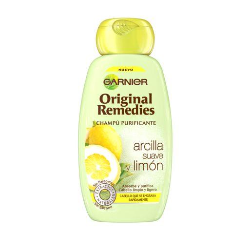 ORIGINAL REMEDIES champú arcilla suave y limón frasco 250 ml