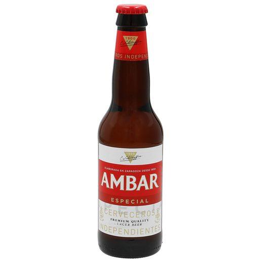 AMBAR cerveza especial botella 33 cl