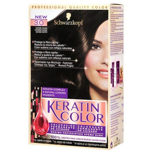 KERATIN COLOR tinte Castaño Oscuro Nº 3.0 caja 1 ud