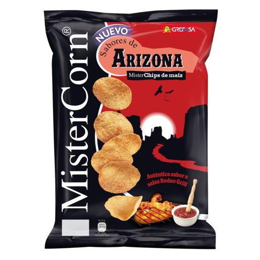 GREFUSA Mister corn sabores de arizona chips de maíz bolsa 90 gr