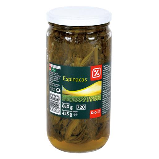 DIA espinacas frasco 450 gr