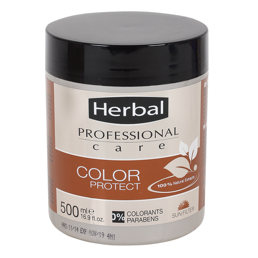 HERBAL Professional care mascarilla color protect cabellos teñidos 500 ml