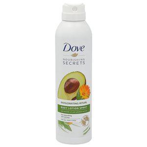 DOVE loción corporal aguacate y caléndula spray 190 ml