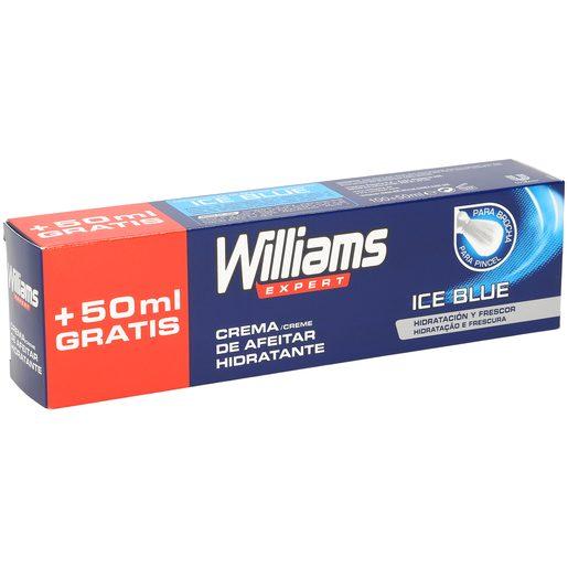 WILLIAMS Ice blue crema de afeitar hidratante tubo 100 + 50 ml