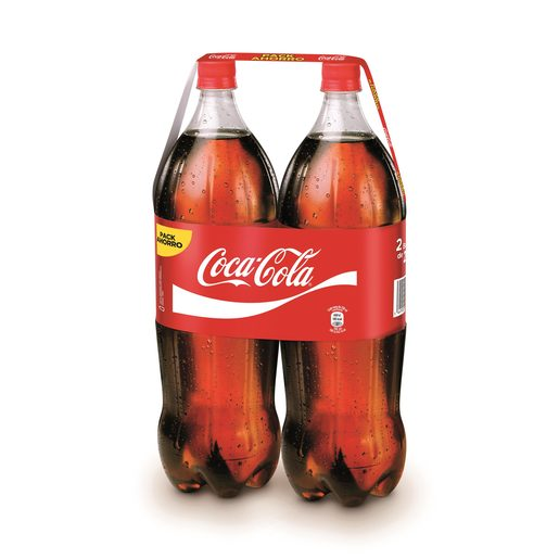 COCA COLA clásica pack 2 botellas 2 lt