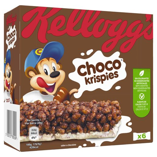 KELLOGGS barrita de cereales choco krispies estuche 120 gr
