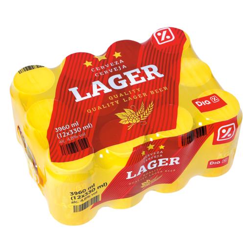 DIA cerveza rubia nacional pack 12 latas 33 cl