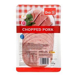DIA chopped pork en lonchas sobre 250 gr