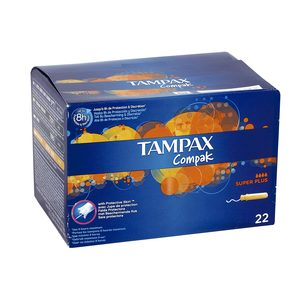TAMPAX Compak tampón super plus caja 22 uds