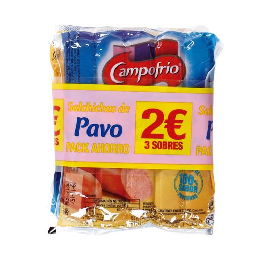 CAMPOFRIO salchichas de pavo pack 3 x 170 gr