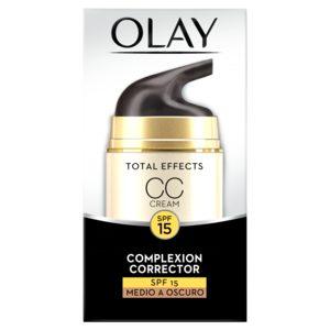 OLAY Total effects 7 en 1 crema CC tono medio a oscuro antiedad caja 50 ml