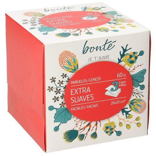 BONTE pañuelos faciales extra suaves 3 capas caja 60 uds (diferentes modelos)