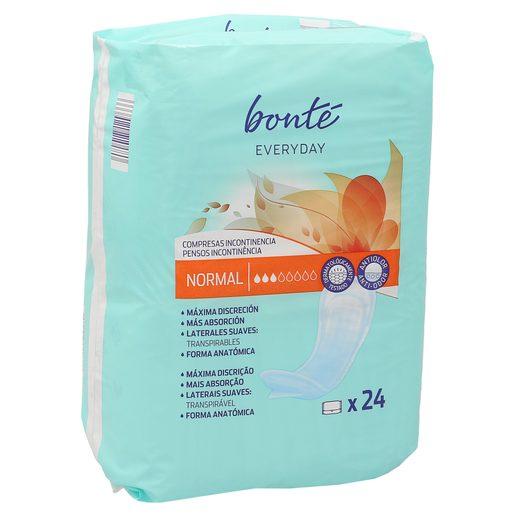 BONTE compresas de incontinencia normal bolsa 24 uds