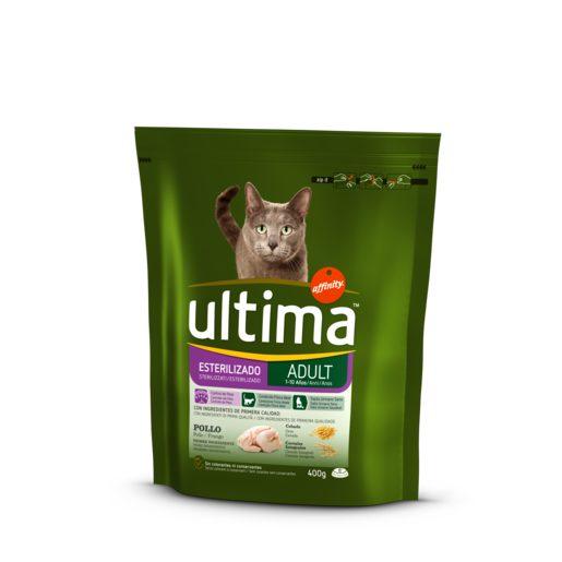 ULTIMA alimento para gatos esterilizados bolsa 400 gr