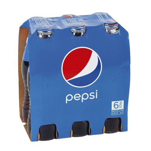 PEPSI clásica pack 6 botellas 20 cl