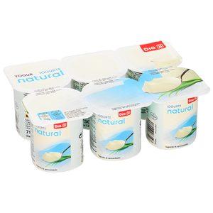 DIA yogur natural pack 6 unidades 125 gr