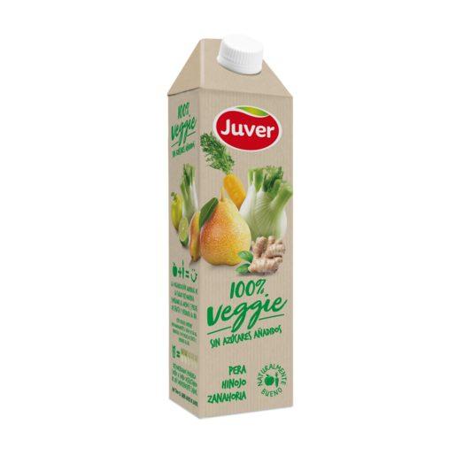 JUVER Veggie bebida de pera, hinojo y zanahorias envase 1 lt