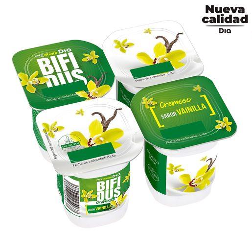 DIA BíFIDUS cremoso sabor vainilla pack 4 unidades 125 gr