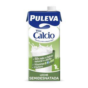 PULEVA leche semidesnatada calcio envase 1 lt