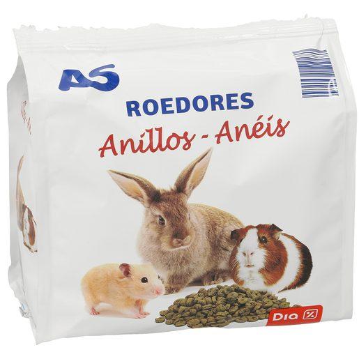 AS alimento para roedores anillos bolsa 250 gr