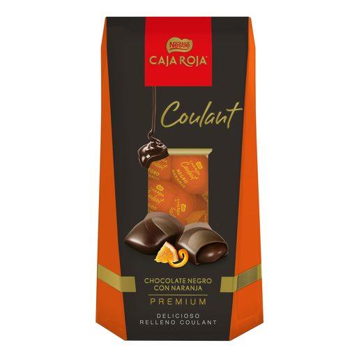 NESTLE bombón coulant chocolate negro con naranja caja 142 gr