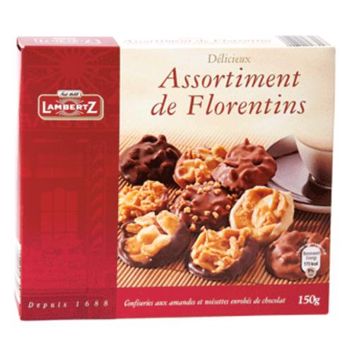 LAMBERTZ surtido de florentis nueces y almendras con chocolate caja 150 gr