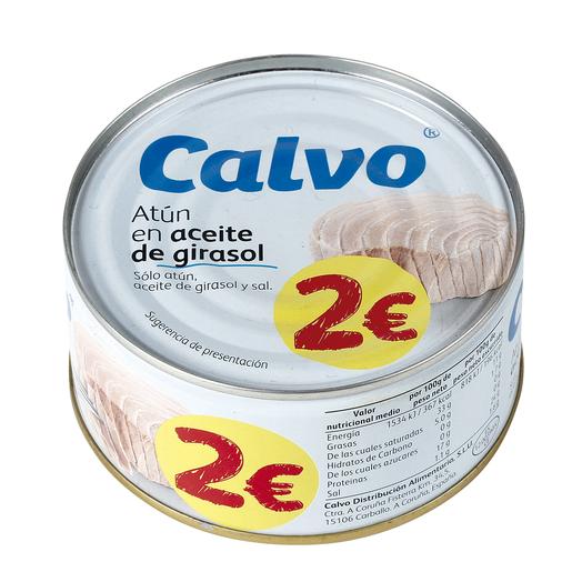 CALVO atún en aceite de girasol lata 195 gr