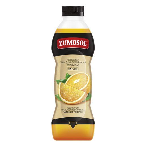 ZUMOSOL zumo de naranja exprimida sin pulpa botella 850 ml