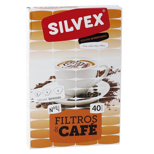 SILVEX filfros para café caja 40 uds