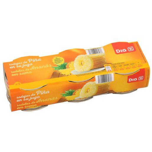 DIA piña en su jugo pack 3 latas 420 grs