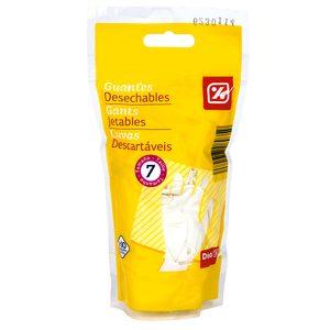 DIA guantes desechables de látex talla 7 bolsa 10 uds