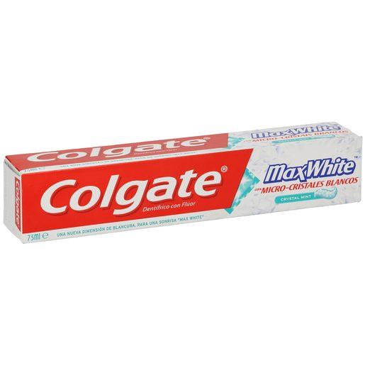 COLGATE MAXWHITE pasta dentrífica con micro cristales blancos tubo 75 ml