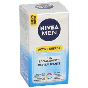 NIVEA Men active energy gel facial revitalizante caja 50 ml