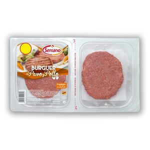 SERRANO hamburguesas de pavo y pollo bandeja 320 gr