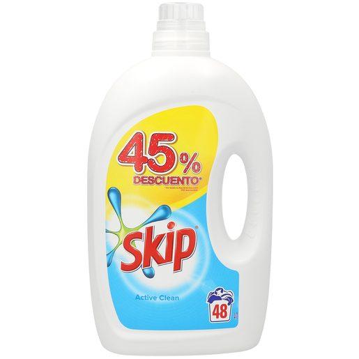 SKIP Active clean detergente máquina líquido botella 48 lv
