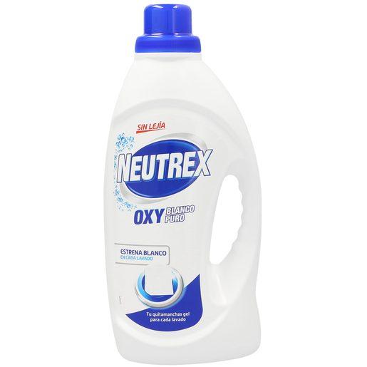 NEUTREX gel quitamanchas oxy blanco puro sin lejía botella 1.6 lt