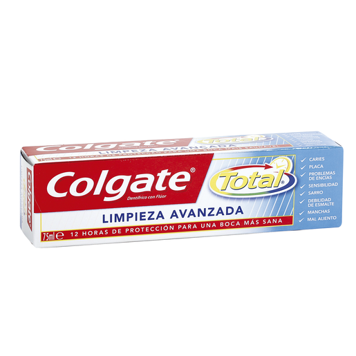 COLGATE pasta dentífrica total limpieza avanzada tubo 75 ml