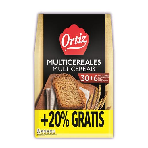 ORTIZ pan tostado multicereal paquete 240 grs