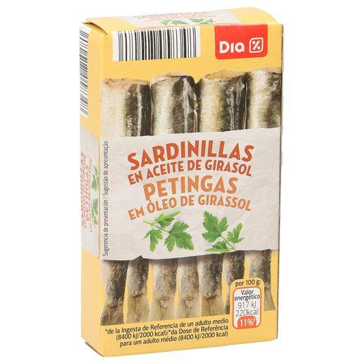 DIA sardinillas en aceite vegetal lata 62 gr
