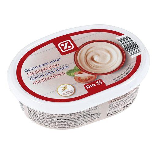 DIA queso para untar mediterráneo tarrina 200 gr