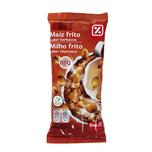 DIA maíz pequeño frito sabor barbacoa bolsa 140 gr