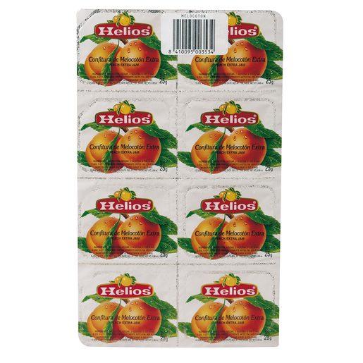 HELIOS mermelada de melocoton pack 8 estuche 200 grs