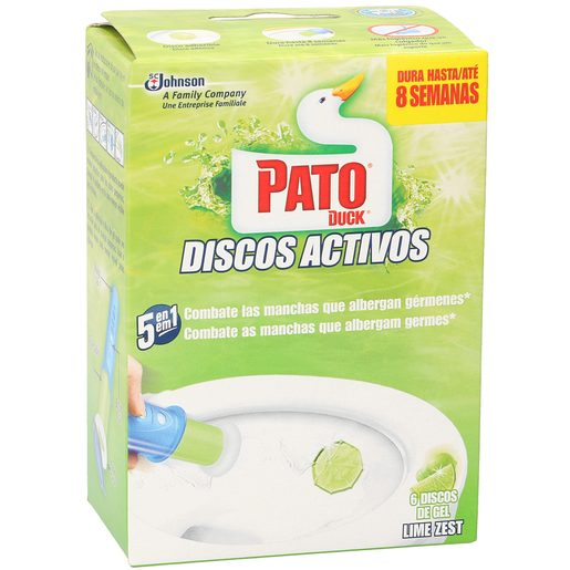 PATO discos activos aroma lima hasta 700 descargas aparato + recambio 1 ud
