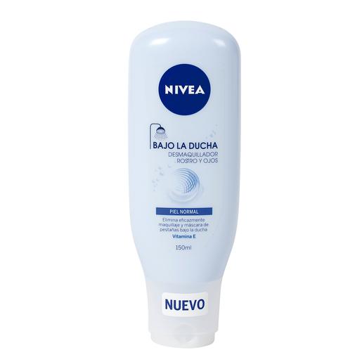 NIVEA desmaquillador rostro y ojos bajo la ducha piel normal bote 150 ml