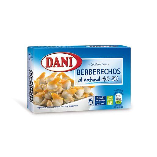 DANI berberechos al natural 40/50 piezas lata 63 grs