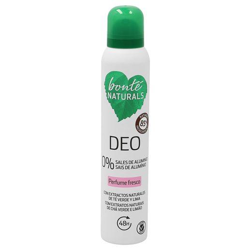 BONTE desodorante perfume fresco 0% sales de aluminio spray 200 ml