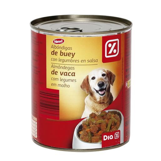 DIA alimento para perros trozos de buey y verduras lata 800 gr